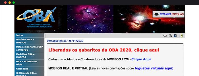 Olimpíadas Científicas de Astronomia E Astronáutica