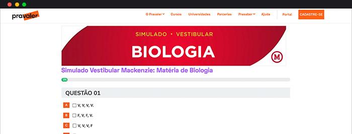 Olimpíadas De Biologia Mackenzie