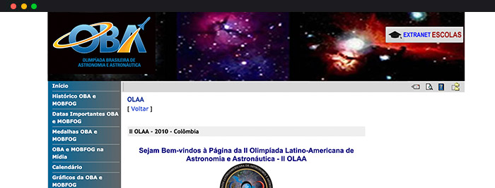 Olimpíadas De Astronomia Olimpíada Latino Americana De Astronomia E Astronáutica